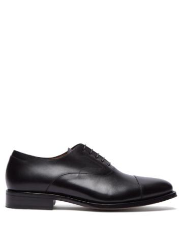 Matchesfashion.com Lanvin - Ruby Leather Oxford Shoes - Mens - Black