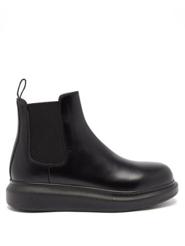 Matchesfashion.com Alexander Mcqueen - Hybrid Leather Chelsea Boots - Womens - Black
