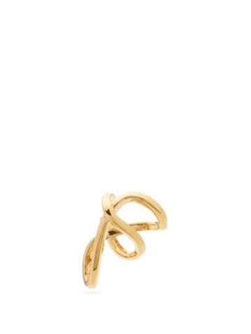 Matchesfashion.com Alan Crocetti - Space Warp Mini Gold-plated Ear Cuff - Mens - Gold