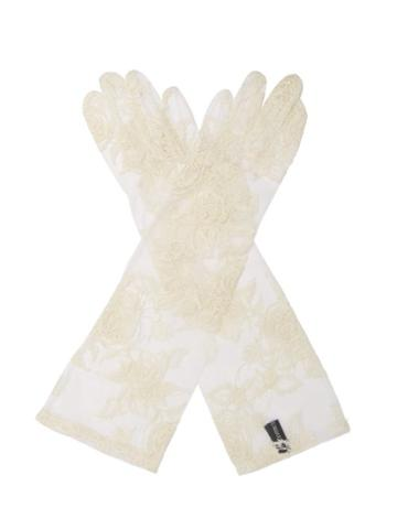 Matchesfashion.com Ann Demeulemeester - Floral Lace Gloves - Womens - White
