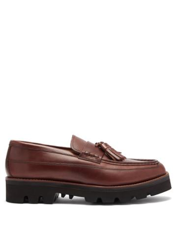 Grenson - Booker Tasselled Leather Loafers - Mens - Brown
