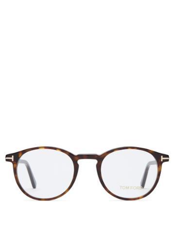 Matchesfashion.com Tom Ford Eyewear - Tortoiseshell Round Frame Glasses - Mens - Tortoiseshell