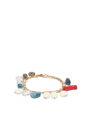 Matchesfashion.com Timeless Pearly - Stone Charm Chain Anklet - Womens - Blue