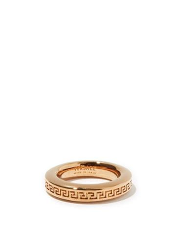 Matchesfashion.com Versace - Greco-engraved Metal Ring - Womens - Gold