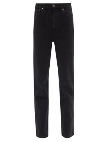 Khaite - Abigail Cropped Straight-leg Jeans - Womens - Black