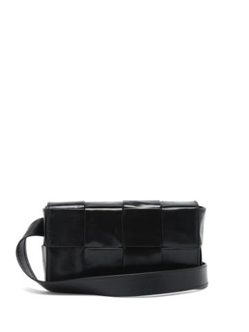 Matchesfashion.com Bottega Veneta - Cassette Intrecciato-leather Cross-body Bag - Mens - Black Silver