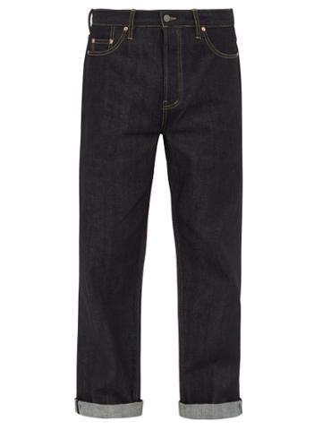 Matchesfashion.com Raey - Raw Selvedge Denim Wide Leg Jeans - Mens - Indigo