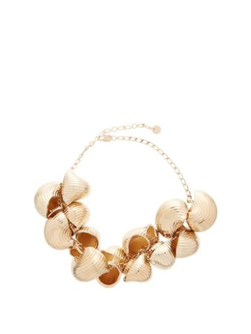 Matchesfashion.com Jacquemus - Shell Chain Necklace - Womens - Gold