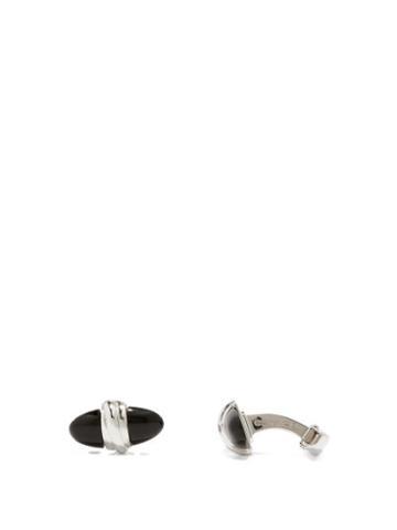 Matchesfashion.com Deakin & Francis - Bullet Onyx & 18kt White-gold Cufflinks - Mens - Silver