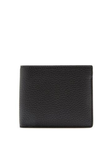 Matchesfashion.com Maison Margiela - Four-stitched Grained-leather Bifold Wallet - Mens - Black
