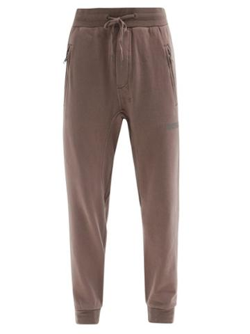Matchesfashion.com Ksubi - Sign Of The Times Printed Cotton Track Pants - Mens - Grey