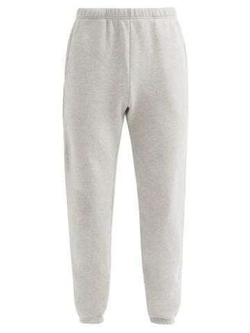 Matchesfashion.com Les Tien - Brushed-back Cotton-jersey Track Pants - Mens - Grey