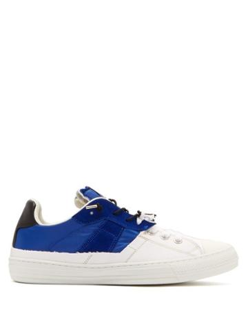 Matchesfashion.com Maison Margiela - Suede And Canvas Low Top Trainers - Mens - White Navy
