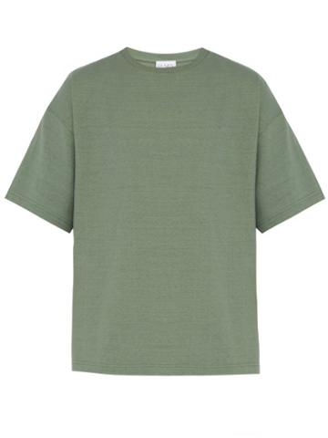 Matchesfashion.com Raey - Oversized Cotton Jersey T Shirt - Mens - Khaki