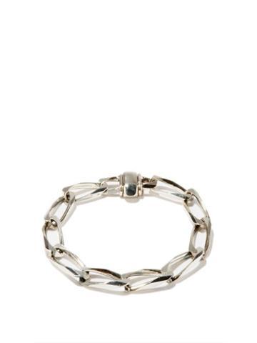 Matchesfashion.com Emanuele Bicocchi - Sterling-silver Chain-link Bracelet - Mens - Silver