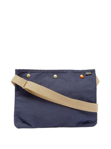 Matchesfashion.com Porter-yoshida & Co. - Coppi Canvas Cross-body Bag - Womens - Navy Multi