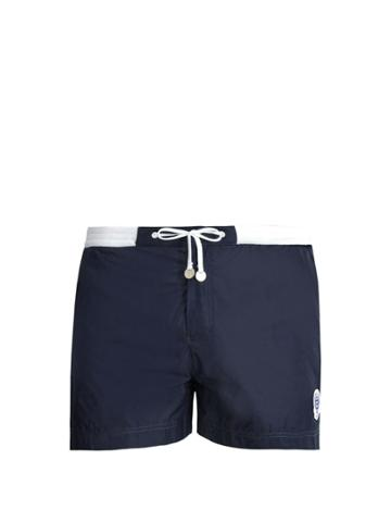 Robinson Les Bains Wimbledon Contrast-waist Swim Shorts