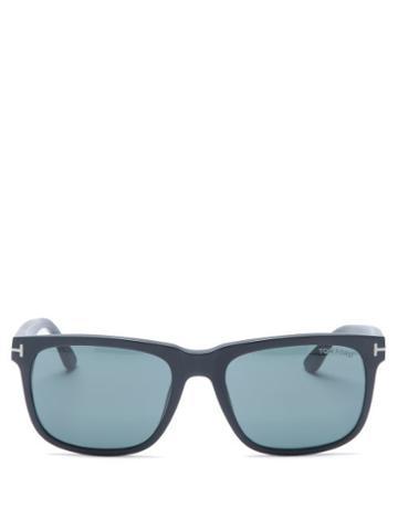 Matchesfashion.com Tom Ford Eyewear - Stephenson Square Acetate Sunglasses - Mens - Black