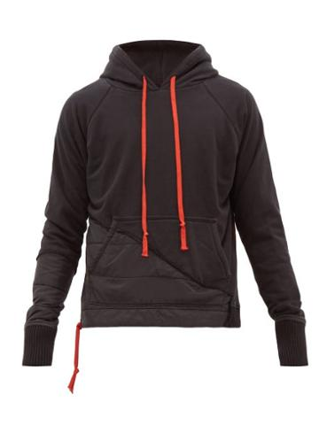 Matchesfashion.com Greg Lauren - Deconstructed Cotton Hooded Sweatshirt - Mens - Black