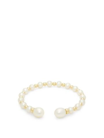 Matchesfashion.com Anissa Kermiche - Impromptu Freshwater Pearl & Gold Cuff - Womens - Pearl