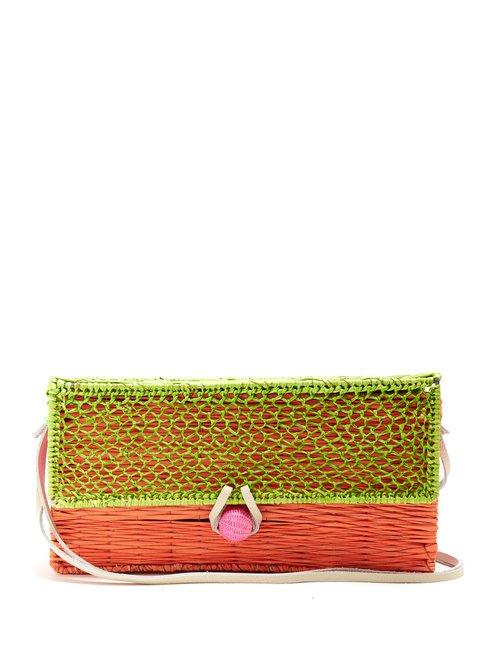 Matchesfashion.com Sophie Anderson - Romina Toquilla Straw Cross Body Body - Womens - Green Multi