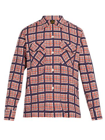 Needles Raw-hem Checked Twill Shirt