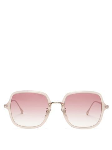 Matchesfashion.com Isabel Marant Eyewear - Windsor Square Acetate And Metal Sunglasses - Womens - Nude