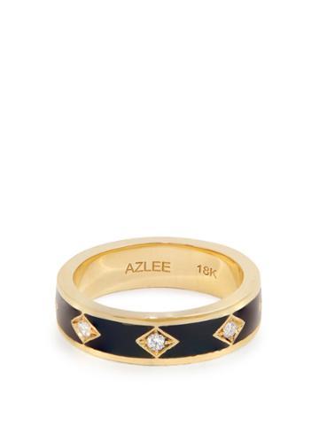 Azlee Night Sky Diamond, Enamel & Yellow-gold Ring