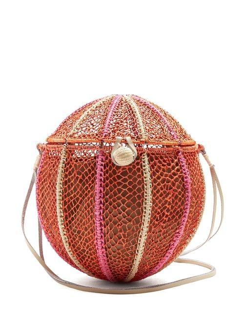 Matchesfashion.com Sophie Anderson - Meylin Woven Grass Cross Body Bag - Womens - Orange Multi