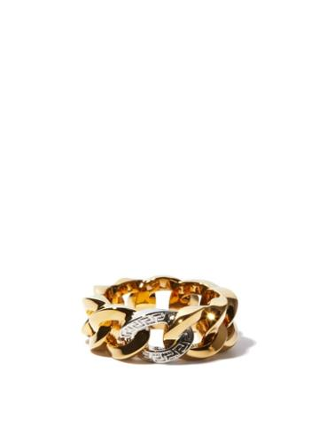 Matchesfashion.com Versace - Chain Gold & Silver Brass Ring - Womens - Silver Gold