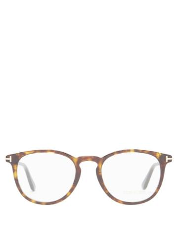 Matchesfashion.com Tom Ford Eyewear - Round Tortoiseshell-acetate Glasses - Mens - Brown