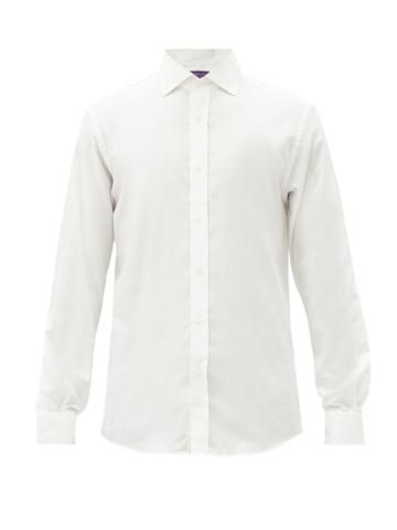 Matchesfashion.com Ralph Lauren Purple Label - Cotton-flannel Shirt - Mens - Cream