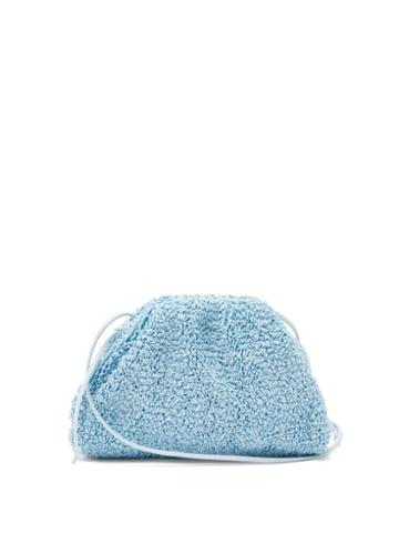 Matchesfashion.com Bottega Veneta - The Pouch Mini Boucl Clutch Bag - Womens - Light Blue