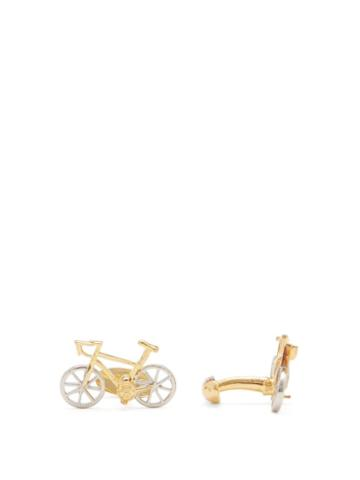 Matchesfashion.com Paul Smith - Racing-bike Metal Cufflinks - Mens - Silver Gold