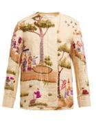 Matchesfashion.com By Walid - Maya Embroidered Cotton Canvas Jacket - Womens - Multi