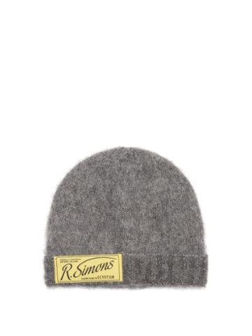 Raf Simons - Logo-patch Beanie Hat - Womens - Grey