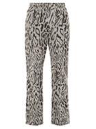 Matchesfashion.com Needles - Leopard Print Track Pants - Mens - Black White