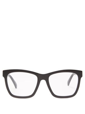 Matchesfashion.com Givenchy - Square Acetate Glasses - Womens - Black
