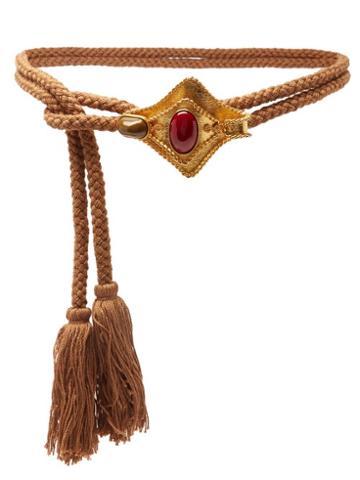 Matchesfashion.com Sonia Petroff - Manta Tasselled-rope Belt - Womens - Orange Multi