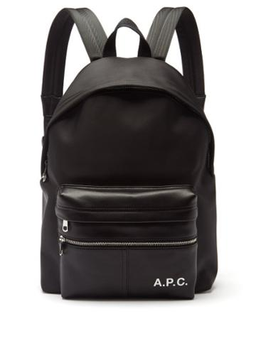 A.p.c. - Camden Canvas And Faux-leather Backpack - Mens - Black