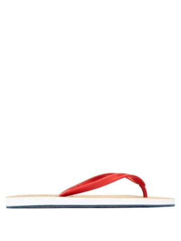 Matchesfashion.com Orlebar Brown - Haston Rubber Flip Flops - Mens - Red