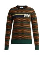 Prada Logo-intarsia Wool And Cashmere-blend Sweater