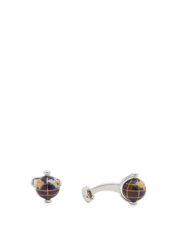 Matchesfashion.com Paul Smith - Spinning-globe Metal And Resin Cufflinks - Mens - Silver Multi