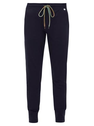 Matchesfashion.com Paul Smith - Cotton Jersey Pyjama Trousers - Mens - Navy