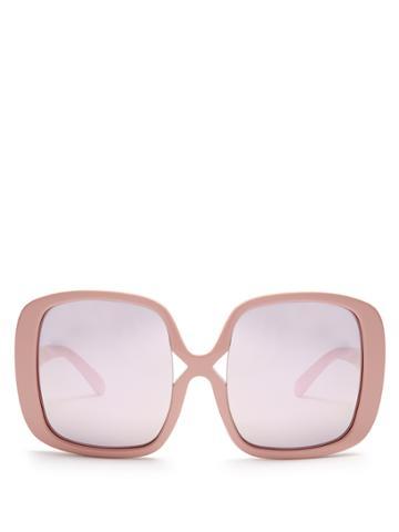 Karen Walker Eyewear Marques Oversized Mirrorred Sunglasses