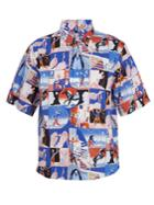 Prada Rope-print Cotton-poplin Shirt