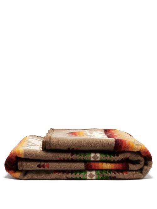 Matchesfashion.com Pendleton - Chief Joseph Wool And Cotton Blend Blanket - Cream