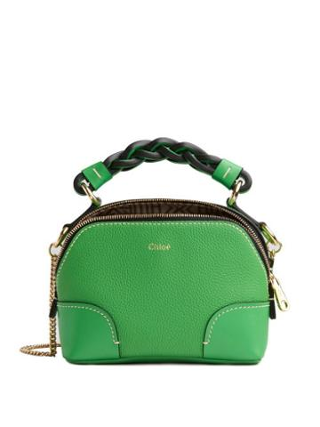 Matchesfashion.com Chlo - Daria Mini Grained-leather Cross-body Bag - Womens - Green