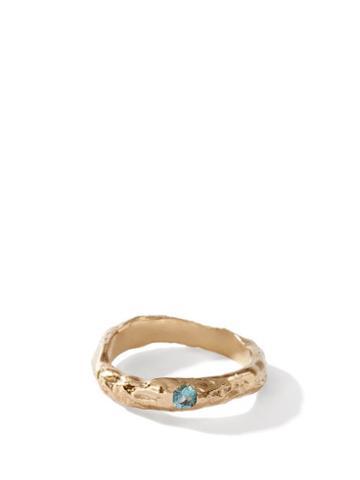 Matchesfashion.com Anita Berisha - December Birthstone & 14kt Gold-plated Ring - Womens - Blue