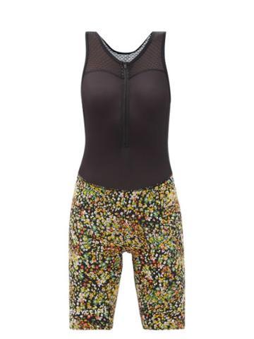 Matchesfashion.com Caf Du Cycliste - Capucine Floral-print Bib Shorts - Womens - Black Multi